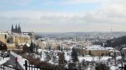 Прага зимой. Вид на город